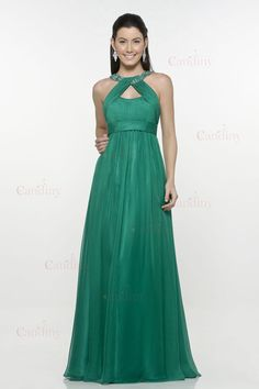Online 2015 Sexy Long Green A-Line Floor-Length Beading Off the Shoulder Halter Sleeveless Plus Size Chiffon Evening Dress Affordable Evening Dresses, Elegant Dresses For Women, Evening Dresses Online, Party Dresses Online, Pretty Dresses, Dress Online, African Evening Dresses, Green Evening Gowns, Cheap Dresses