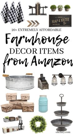 2019 Ultimate Guide To Affordable Farmhouse Decor Finds On Amazon! 20  Beautiful Amazon farmhouse decor you can buy on a small budget. There is no need to spend hundreds of dollars to achieve that rustic fixer-upper look! These best selling farmhouse finds on Amazon will completely transform your living room, bathroom, kitchen, and your master bedroom!#farmhousedecor #farmhousestyle
