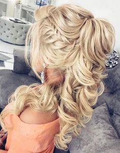 Elstile Wedding Hairstyles for Long Hair / www.deerpearlflow… Elstile Wedding Hairstyles voor lang haar / www. Homecoming Hairstyles, Wedding Hairstyles For Long Hair, Wedding Hair And Makeup, Pretty Hairstyles, Braided Hairstyles, Hairstyle Ideas, Hair Wedding, Modern Hairstyles, Greek Hairstyles