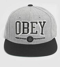 f9aea7cecbb Snapback cap - Obey Mens Fashion Magazine