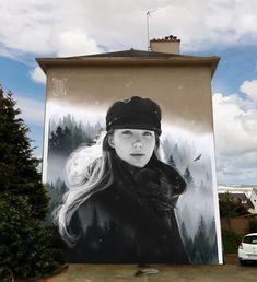 """Créaéro DécoGraff """"Aéro"""" in Norway, 2019 Graffiti Art, Best Graffiti, Graffiti Designs, Spray Can Art, Sidewalk Chalk Art, Street Art Photography, Urbane Kunst, Amazing Street Art, Art Graphique"""
