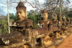 54 Statues at the South Gate Angkor Wat Cambodia! Bucket list