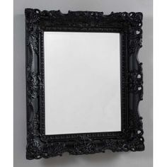 Beautifully designed baroque style mirror which complements perfectly your home. Available in various finishes. This mirror can be hung both portrait and landscape. Please note that fixings for the wall are not supplied. Baroque Mirror, French Mirror, Black Mirror, Wood Mirror, Mirror Walls, Vintage Mirrors, Dark Interiors, Gothic House, French Antiques
