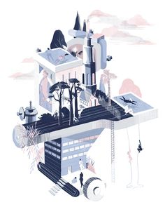 Over the week I discovered the work of Sari Cohen; an illustrator and print-maker from Tel Aviv. I love the colors in her work and I really like the shapes and forms that she uses. The work here wa...
