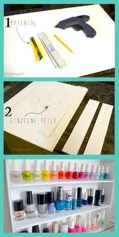 Shelf for nail polish Source by Nail Polish, Shelves, Diy Wood, Nails, Home Decor, Creative, Shelving, Homemade Home Decor, Ongles