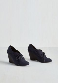 dc32baefaaf Be our Guest Lecturer Wedge in Navy by Restricted - Blue