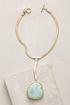 Seastone Lariat Necklace