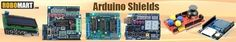 Arduino Shields Online like Ethernet Shield, Grove Base Shield, L293D motor plate, Arduino UNO Proto Shield, XD-05 Data Logger for Arduino, Arduino L298 Motor Drive Shield and more Arduino Shields