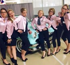 Pink ladies group costume