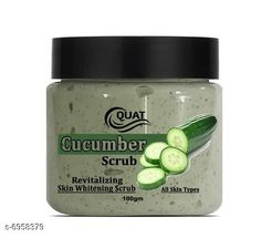 Checkout this latest Face Scrubs & Exfoliators Product Name: *Cucumber Face Scrub* Product Name: Cucumber Face Scrub Multipack: 1 Skin Type: All Skin Types Country of Origin: India Easy Returns Available In Case Of Any Issue   Catalog Rating: ★4.1 (777)  Catalog Name: Face Scrub CatalogID_1111212 C170-SC2043 Code: 791-6958379-933