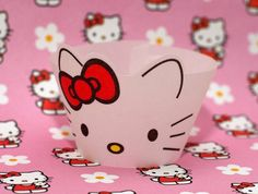Hello Kitty style Cupcake Wrappers by AnimatedCupcakes on Etsy