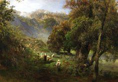 German Landscape Painter Oswald Achenbach (1827-1905)