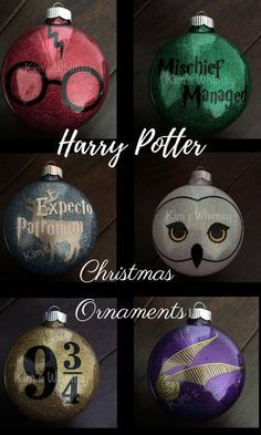 This Harry Potter nerd needs a Harry Potter christmas tree!!!! Love these ornaments and you can get them personalized!!