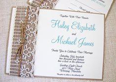 Lace und Jute Hochzeitseinladung Karten Jute Hochzeitsdeko und Einladungskarten Inspiration