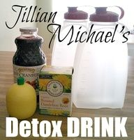 Jillian Michaels Detox and Cleanse Drink Ingredients 64 oz. purified water 1 bag Dandelion Root Tea 1 tablespoon pure Cranberry Juice 2 tablespoons Lemon Juice Jillian Michaels Detox and Cl Healthy Detox, Healthy Drinks, Healthy Tips, Healthy Choices, Healthy Recipes, Juice Recipes, Water Recipes, Healthy Foods, Vegetarian Recipes
