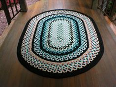"""Handmade Braided Rugs by Marge:""""Jeanette""""...a 5' X 7' Oval Braided Rug"""