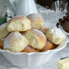 Light and fluffy Snowflake Rolls ~ warm from the oven :)