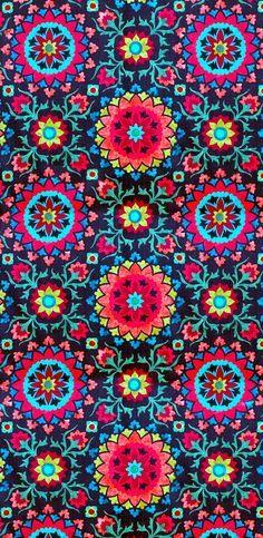 coquita bright kaleidoscope pattern