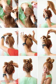 Ense örgülü fiyonk saç yapımı | Saç Modelleri | Pek Marifetli!