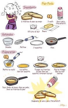 Pain perdu - a faire en version VEGAN Cooking Time, Cooking Recipes, Breakfast Recipes, Dessert Recipes, French Food, Food Illustrations, Food Art, Food Inspiration, Love Food