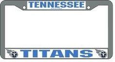 Tennessee Titans Chrome License Plate Frame