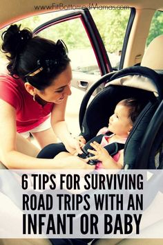 Happy baby, happy road trip. Seven tips to road-trip happy with an infant! | Fit Bottomed Mamas