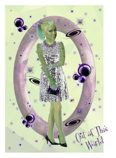 """""""Out of This World"""" by kbarkstyle ❤ liked on Polyvore featuring art"""
