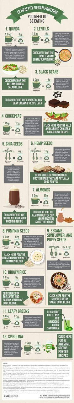 Even if you're not vegan, these 12 non-meat protein sources are the best of the best - and should be in your diet. Check them out... along with the recipes. #protein #healthy
