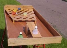 A toy garage is a simple structure to store and display collected toys. Garden Games, Backyard Games, Outdoor Toys, Outdoor Games, Outdoor Play, Toy Garage, Outside Games, Giant Games, Wood Games