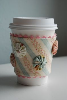 Pretty mug cover, when is PTI going to come out with Fabric?  :)  Hint, hint, Debbie Olson!