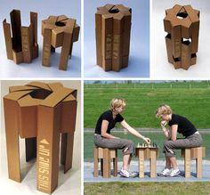 Flat-Pack Furniture: Eco-Friendly Cardboard Chair Designs