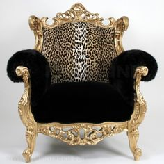 Gold +  Black + Leopard Baroque = Pure attraction