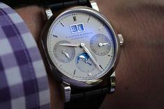 A. Lange & Söhne Saxonia Annual Calendar Platinum Watch Review   a lange sohne