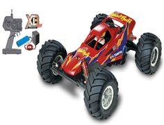 The Tamiya XB Mad Bull in 1/10 scale is the latest addition to the range of Tamiya Expert Built off road electric radio control cars.    This rc model off road monster truck comes complete with a 7.2 volt battery pack and mains charger.    It features Acoms radio gear with an electronic Speed Controller that is fully proportional and has a standard 540 motor.