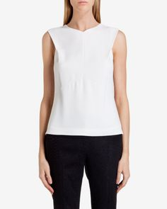Semi Fitted Top - Cream | Tops & T-shirts | Ireland Site