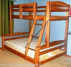 diy bunk bed | Bunk Bed Paper Patterns Build King Over Queen Over Full Over Twin Easy ...