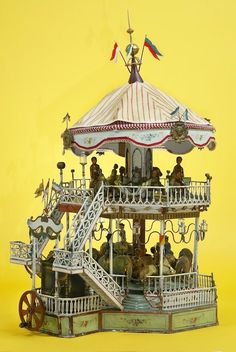 Marklin carousel, c.1911, Germany  via The Children's Museum of Indianapolis
