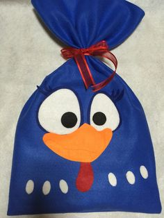 Felt made Lottie Dottie Chicken party favor bag