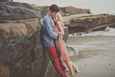 Beach Engagement Session from Teale Photography