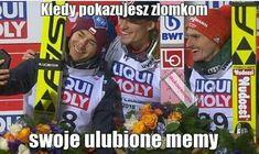 Read from the story Skoki życiem Polish Memes, Ski Jumping, Creepypasta, Skiing, Baseball Cards, Funny, Sports, Pictures, Life