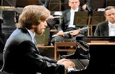 Krystian Zimerman plays Ludwig van Beethoven's Piano Concerto No. 3 in C minor, Op. 37. Vienna Philharmonic Orchestra conducted by Leonard Bernstein.