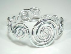 Spirals Adjustable Bracelet. $15.00, via Etsy.