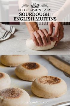 A delicious sourdough english muffin recipe that requires NO yeast. It's an easy, overnight recipe that we make at our farmhouse on Little Spoon Farm regularly! This recipe has been tested with King Arthur flour but you can use your flour of preference!