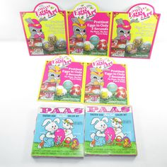 Vintage Easter Egg Art Decorating Kits 1980's Paas Sun Hill #Paas #eastereggs #eastercrafts