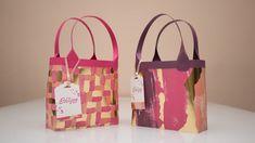 Tasche aus Designerpapier | Stampin' Up!  Geschenkverpackung schnell und einfach in einem Video erklärt.