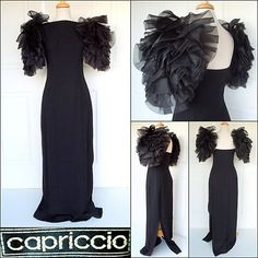 Vintage CAPRICCIO Gown ~ Runway + Couture. RARE!  SOLD!