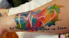 Faith Love Hope Tattoo - Importance & Versatile Tattoo Designs for Men and Women - Tattoo Ideas & Trends Amor Tattoo, Gay Tattoo, Pride Tattoo, Tattoo Motive, Couple Tattoos, Tattoos For Guys, Forever And Always Tattoo, Colored Tattoo Design, Tattoo Liebe
