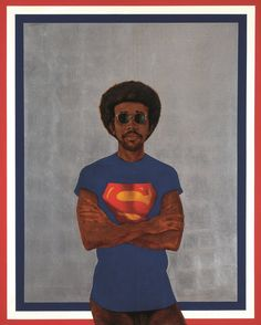 Barkley L. Hendricks Icon for My Man Superman (Superman Never Saved any Black People – Bobby Seale) . ​Wadsworth Jarrell Revolutionary 1972 Private Collection © Wadsworth Jarrell