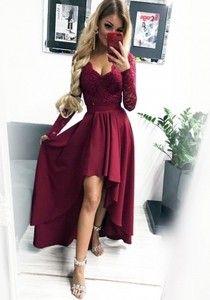 34250f1658 Sukienka Pakuten z długim rękawem asymetryczna Sukienki Słodka 16