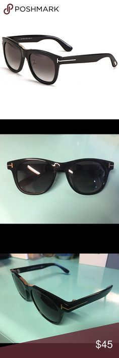 Tom Ford TF9257 Sunglasses Tom Ford black and gold sunglasses. Worn only a few times and always kept in the case, just don't wear them as much as my other sunglasses. Originally bought off of Aliexpress so I'm not sure if genuine or not. Quality is pretty comparable to the Tom Fords I bought off Amazon. So the price price you see is meant to reflect this information. Open to offers. Tom Ford Accessories Sunglasses